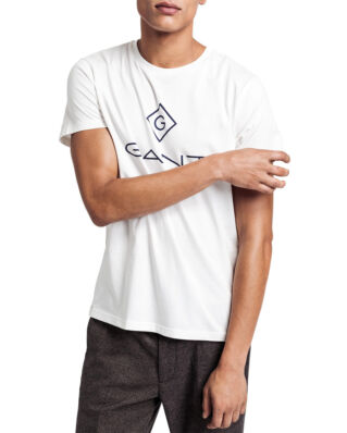 Gant Gant Lock - Up Ss T-Shirt Eggshell
