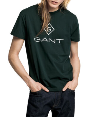 Gant Gant Lock - Up Ss T-Shirt Tartan Green