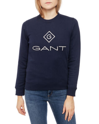 Gant Gant Lock Up C-Neck Sweat Evening Blue