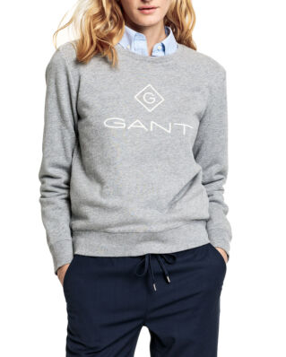 Gant Gant Lock Up C-Neck Sweat Grey Melange