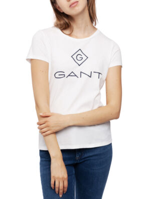Gant Gant Lock Up Ss T-Shirt Eggshell