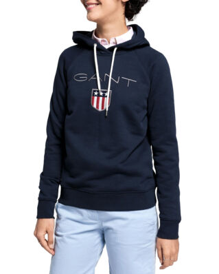 Gant Gant Shield Sweat Hoodie Evening Blue