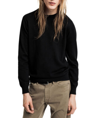 Gant Light Weight Cotton Crew Black