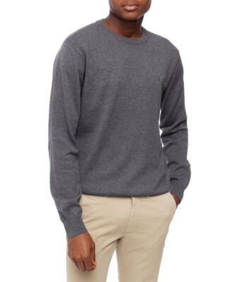 Gant Light Weight Cotton Crew Charcoal Melange