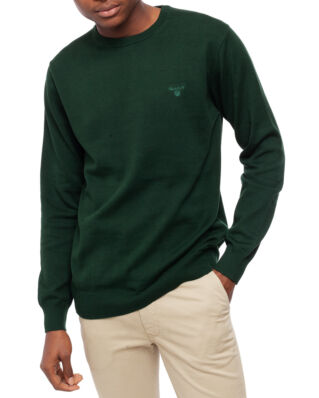 Gant Light Weight Cotton Crew Tartan Green