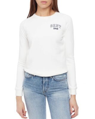 Gant Md. The Summer Logo C-Neck Sweat Eggshell