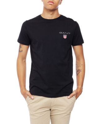 Gant Medium Shield Ss T-Shirt Black