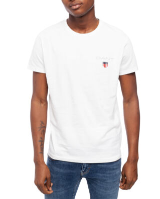 Gant Medium Shield Ss T-Shirt Eggshell