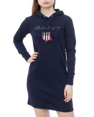 Gant O1. Gant Shield Hoddie Dress Evening Blue