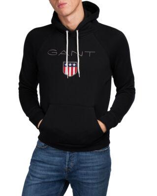 Gant O1. Gant Shield Sweat Hoodie Black