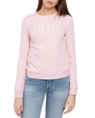 Gant O1. Logo C-Neck Sweat California Pink