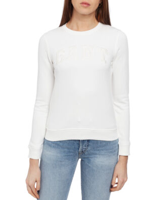 Gant O1. Logo C-Neck Sweat Eggshell