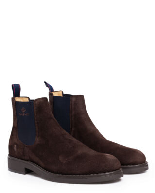 Gant Oscar Chelsea Suede Dark Brown