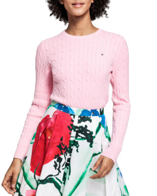 Gant Stretch Cotton Cable Crew California Pink