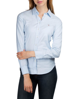 Gant Stretch Solid Oxford Slim Shirt Light Blue