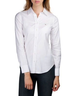 Gant Stretch Solid Oxford Slim Shirt White