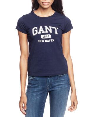 Gant The Fall Logo S/S T-Shirt Evening Blue