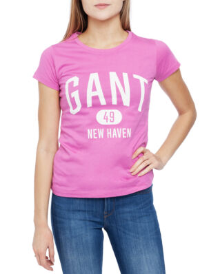 Gant The Fall Logo Ss T-Shirt Light Fuchsia