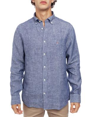 Gant The Linen Shirt Reg BD Persian Blue