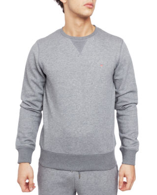 Gant The Original C-Neck Sweat Dark Grey Melange