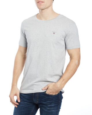 Gant The Original Slim T-Shirt Light Grey Melange