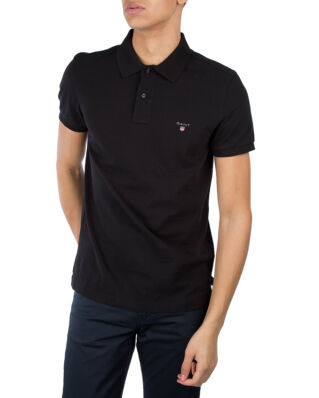 Gant The Original Slim Pique S/S Rugger Black