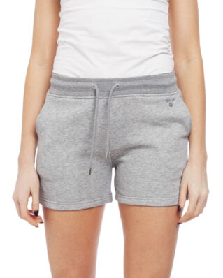 Gant Tonal Shield Sweat Shorts Grey Melange