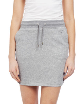 Gant Tonal Shield Sweat Skirt Grey Melange