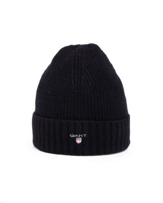 Gant Wool Lined Beanie Black
