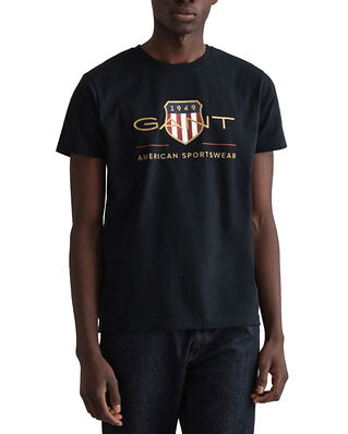Gant  Archive Shield Ss T-Shirt Black