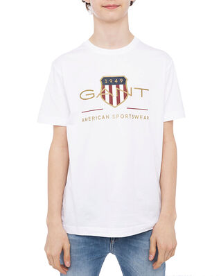 Gant Archive Shield SS T-shirt White