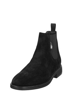 Gant Brockwill Suede Chelsea Boot Black