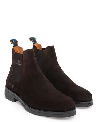 Gant Brookly Suede Chelsea Dark Brown