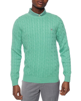 Gant Cotton Cable C-Neck Peppermint Mel
