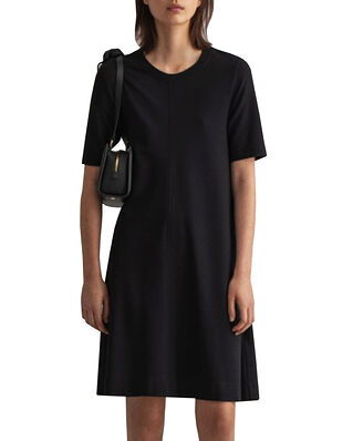 Gant D1. A-line Jersey Dress Black