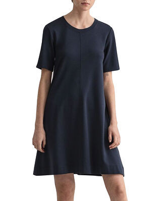 Gant D1. A-line Jersey Dress Evening Blue