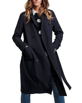 Gant D1. Fluid Trench Coat Navy