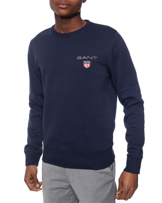 Gant D1. Medium Shield C-Neck Sweat Evening Blue