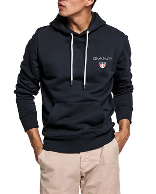 Gant D1. Medium Shield Hoodie Black