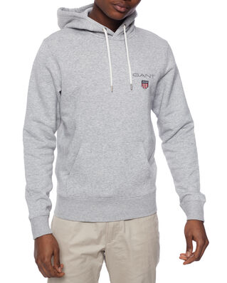 Gant D1. Medium Shield Hoodie Light Grey Melange