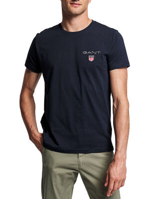 Gant D1. Medium Shield Ss T-shirt Evening Blue
