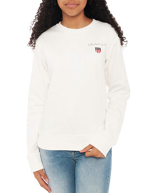 Gant D1. Medium Shield Sweat C-Neck Eggshell