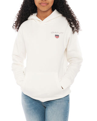 Gant Junior D1. Medium Shield Sweat Hoodie Eggshell
