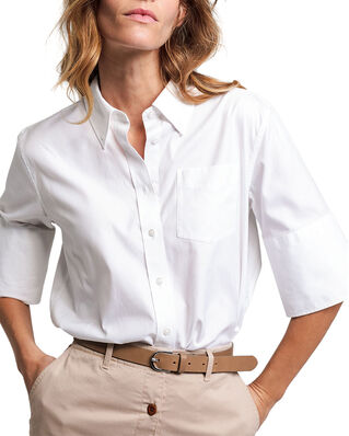 Gant D1. Ppo Solid Bd Ss Shirt White
