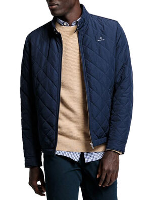 Gant D1. The Quilted Windcheater Evening Blue