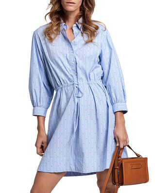 Gant D1. Tp Dobby Drawstring Dress Pacific Blue