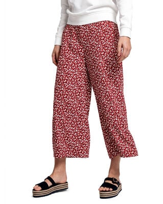Gant D2. French Floral Fluid Culotte Iron Red