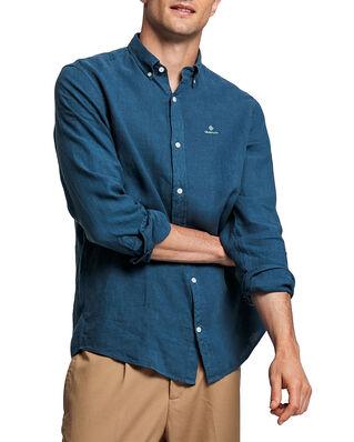 Gant D2. Garment Dyed Linen Reg Bd Insignia Blue