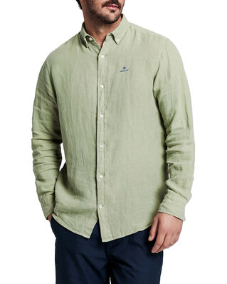 Gant D2. Garment Dyed Linen Reg Bd Oil Green