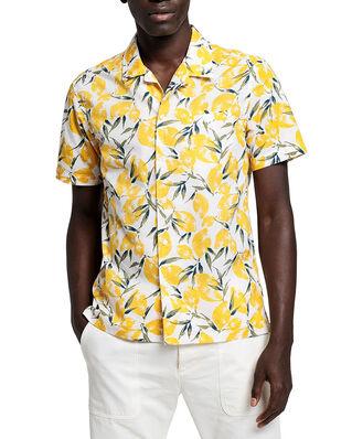 Gant D2.Lemon Pri Reg Riviera Collar Ss Eggshell